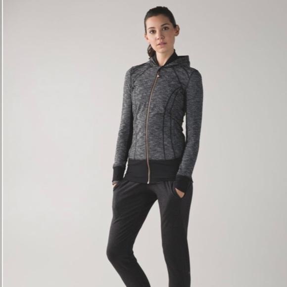 Lululemon Daily Practice Jacket coco pique zip up